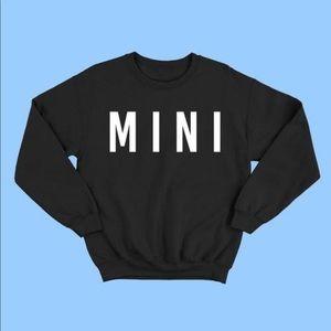 Black white mini matching sweatshirt winter fall
